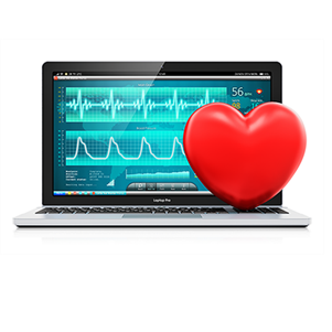 graphic of laptop with heart