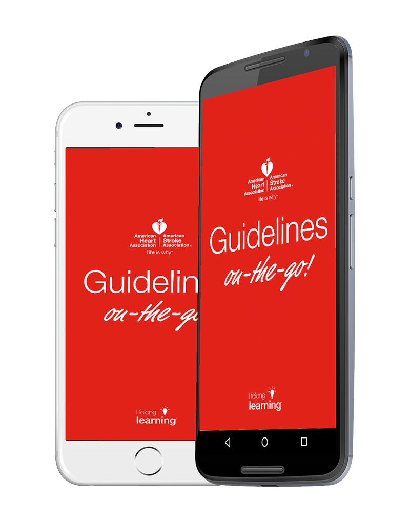 image of Guidelines on the go app on iPhone and Android phone