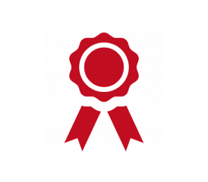 red awards ribbon icon