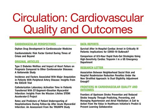 Circulation Cardiovascular Quality and Outcomes cover