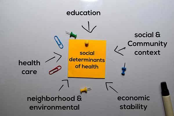 Illustration of what created social determinants of health