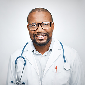 headshot photo of black male doctor